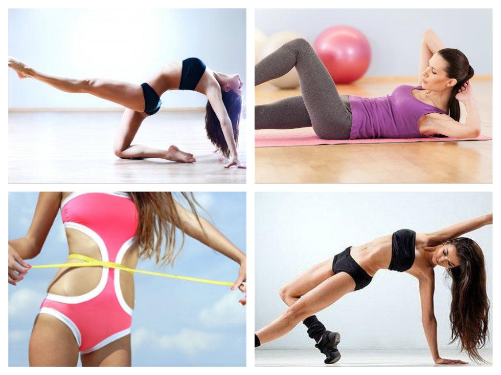 Упражнения для похудения талии ног