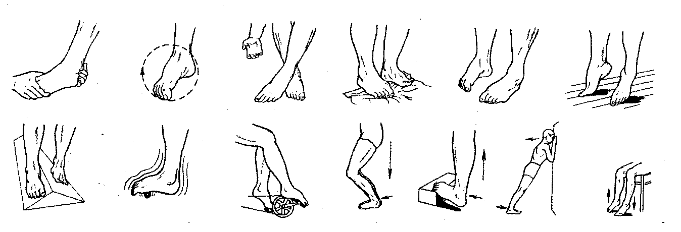 Гимнастика после перелома голеностопа в домашних условиях